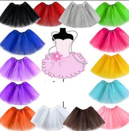 Wholesale short skirt costumes - Girls Kids Child Tutu Ballet Skirt Tutus Dance Costume Short Skirt Color Girl Princess Skirts Pettiskirt Fancy Skirts Dancewear KKA3023