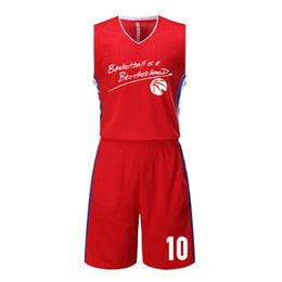 Wholesale Usa Suits - 2017 Cheap Basketball Jerseys Sets Men Sportwear Training Suit Boys Quick Dry USA Throwback Basketball Uniforms 2017 New