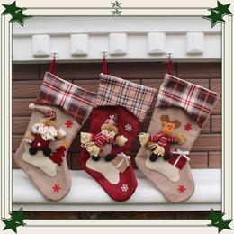 Wholesale Linen Socks - High Quality European style big brother ski Christmas socks Creative gifts of candy socks Christmas stockings for festive hot sale