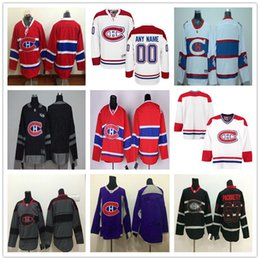 Wholesale Montreal Canadiens Cheap Hockey Jerseys - 2017 Customized Montreal Canadiens Any Name Any Number Ice Hockey Jerseys Cheap Authentic Stitched Logos size S-3XL Jersey