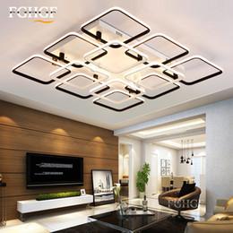 moderno led luz de techo cuadrado techo escalera creada lmpara creativa dimmable lustre iluminacin para dormitorio saln comedor comedor cuadrado lmpara