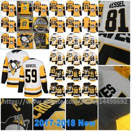 Wholesale Murray S - 2018 Pittsburgh Penguins Jake Guentzel Sidney Crosby Phil Kessel Matt Murray Evgeni Malkin Mario Lemieux Patric Hornqvist Kris Letang Jersey