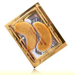 Antiarrugas NUEVA Crystal Collagen Gold Powder Eye Mask Máscara de oro palo a las ojeras 2000pair vía DHL FEDEX desde fabricantes