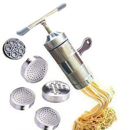 Wholesale Noodle Machines - Stainless Steel Noodle Maker ferramentas With 5 Models vegetable noodle cutter Press Pasta Machine cooking Tools spaghetti