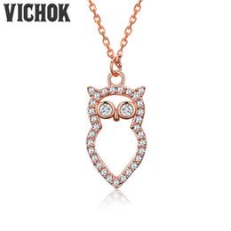 Wholesale Vintage Silver Owl Pendant - 925 Sterling Silver Necklace&Pendants Cute Owl Design Necklace Minimalist Fine Jewelry For Women Vintage Fashion Jewelry Wholesale VICHOK