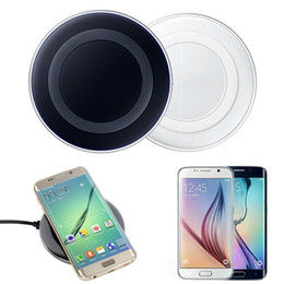 Wholesale Galaxy Note Charging - 2017 Universal Qi Wireless Charger Charging Pad for iPhone 7 Plus, For Samsung Note Galaxy S6 Edge, HTC, LG