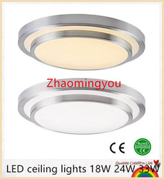 Wholesale Ceiling Lights Remote Control - YON LED ceiling lights Dia 350mm,aluminum+Acryl High brightness 220V 230V 240V,Warm white Cool white 18W 24W 33W Led Lamp
