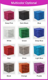 Wholesale 216 Magnets - 216 pcs Diameter 5mm Multicolor Stress Release Magic Balls Neodymium Toy Magic Puzzles Toy Sphere Magnets Magnetic Spheres Set
