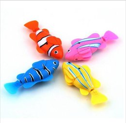 Wholesale Electronic Toy Robots - Free shipping Magical novel Robot Fish Activated Turbot Electronic Pets Toys Electric Robofish Swimming Clownfish