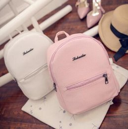 Wholesale Star Sweet Light - 2017Free shipping Sweet College Wind Mini Shoulder Bag High quality PU leather Fashion girl candy color small backpack female bag