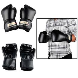 Wholesale Kickboxing Gloves - SUTEN PU Boxing Gloves Kickboxing MMA Training Fighting Sandbag Gloves SUTENG Sanda Glove Sports Black Red Blue Protective Gear 2501022
