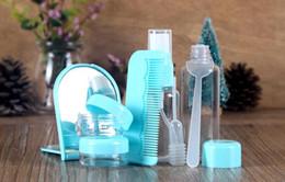 conjunto de viagens de garrafas vazias Desconto Conveniente saco de viagem por atacado Finn idade 8 PCS é um conjunto vazio garrafa terno vazio garrafa de plástico clamshell garrafa de viagem série