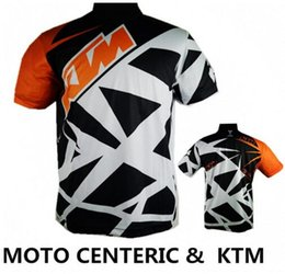 Wholesale Downhill Shorts - Brand-2016 KTM Moto Motorcycle racing jersey short sleeves T shirt off road cycling downhill DH MX clothes Breathable