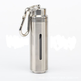 Wholesale E Liquid Keychain - Stainless Steel Liquid Bottle Juicepot 20ml E Juice Bottle with Keychain Carrying E-liquid Bottle E Cig Oil Liquid Bottle