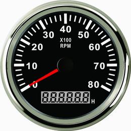 Wholesale Rev Gauge - Waterproof Tachometer REV Counter RPM Gauge Meter With Hour Meter 0-8000RPM 85mm 12V 24V With Backlight