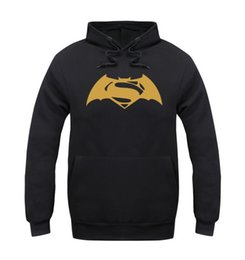 Wholesale Black Red Bats Sweater - 2016 Summer Man Even Hoodie Bat Chivalrous War Superman Sweater Justice Dawn Clothes Sweatshirts Tracksuits Billionaire Boys Club Outdoor
