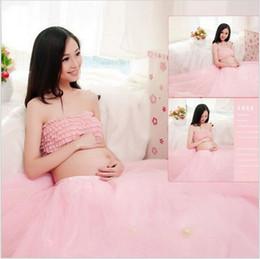 Wholesale Portrait Photography Photos - Lace Maternity Photography Props Clothes Pregnancy Gown Set Dresses For Pregnant Women Clothing Photo Portrait Portrait Hot Sale
