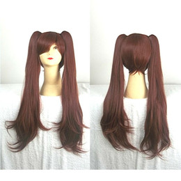 Wholesale Izumi Cosplay - 80cm From Akazawa Izumi of Another Anime Wavy Curly Long Dark Brown Cosplay Wig Ponytail ePacket Free Shipping