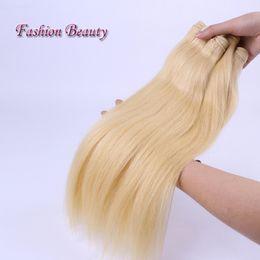 Wholesale Mixed Length Peruvian 613 - Fashion Beauty Brazilian Peruvian Hair Straight 4 Bundle 613# Honey Blonde 10-30Inch Mix Length Weaving Hair