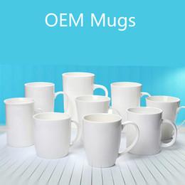 Logos gedruckt porzellan online-Kaffeetassen Keramik-Tassen mit Becher Bier-Wein-Gläser drucken Sie besitzen Logo beiläufige einfache Leben-Schalen geben DHL frei