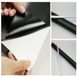 Wholesale Sticker Blackboard Chalk - Chalk Board Blackboard Sticker Removable Vinyl Wall Decal stricker 45cm*200cm Waterproof without chalks teach kids Gifts