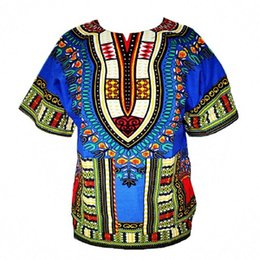 Wholesale Traditional Design Dresses - New Hipster Men African fashion design african traditional print Dashiki T tee Shirt dress african women bazin dress