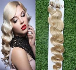 Wholesale Micro Loop Ring Hair Extension - Micro Loop Ring Hair Products 100s Blonde Brazilian Hair Micro Loop Human Hair Extensions 100g Body Wave Micro Loop Hair Extensions