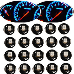 Wholesale Gauge Light Bulbs - 10 20Pcs Instrument LED Light Bulb T4 T4.2 2835 1SMD White Blue Red Green Neo Wedge Meter Panel Gauge Climate Control LED Bulb Universal