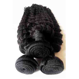 Wholesale Cheap Chinese Goods - Brazilian Peruvian Malaysian Indian human Hair Deep wave kinky Curly 3pcs lot Natural Color 8-26inch cheap weave Unprocessed 7A good quality