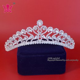 Wholesale Star Tiara Wholesale - Crystal Rhinestone Crowns Tiaras Bridal Wedding Hair Accessories Princess Pueen Formal Party Prom Night Clup Show Wah Mei Km159
