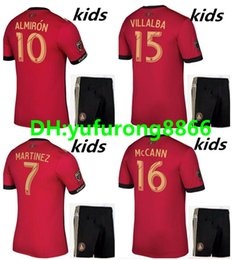 Wholesale Atlanta Homes - kids Atlanta United FC jersey kits 2017-2018 Top quality football shirt GARZA JONES VILLALBA MCCANN MARTINEZ ALMIRON away home soccer jersey