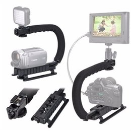 Wholesale Action Camcorders - U C Shaped Flash Bracket Holder Handle Handheld Action Stabilizer Grip for Camera Camcorder Video Handle