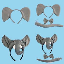 Cartoon Animal Éléphant Bébé Enfants Parti Bandeaux Oreilles Bandeau Cheveux Accessoires Enfants Bandeaux pour les filles Bow ? partir de fabricateur