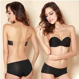 Wholesale Bras Size 34a - MOXIAN Strapless Bra Seamless gather bras wedding dress invisible underwear beauty back woman Freedom of movement Optionally with clothes249