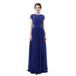 Wholesale Cheap One Strap Prom Dresses - Abendkleider Lang 2017 Vestido Longo De Festa Para Casamento Royal Blue Prom Dresses Cheap Long Evening Dresses