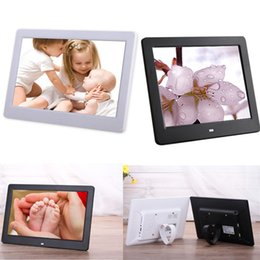 Wholesale Acrylic Picture Frames Wall - Wholesale- 10.1 inch Electronic Digital Photo Frame Picture Porta Retrato Marco De Fotos Digital MP3 USB RJ45 Home Living Room Bedroom Wall