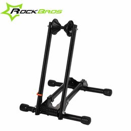 Wholesale ROCKBROS Portable Double Rod Bicycle Parking Racks Mountain Bike Maintenance Carriage Supporting Frame