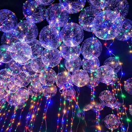 Wholesale Multi Colored Party Lights - Fashion bobo ball wave led line string balloon light with colored light for Christmas Halloween Wedding Party children home Decoration