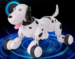 Wholesale Realistic Dog Toy - HappyCow 777-338 2.4G RC Smart Dog Realistic Smart Dog Programmable Radio Remote Control Educational Intelligent Dog Robot Toys for Kids