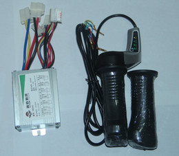 Wholesale Electric Scooter Dc Motor - Wholesale-500W 24V 36V 48V DC motor Brushed Controller +Throttle Twist Grips Power Display for electric scooter controlador de motor