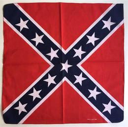 Wholesale Wholesale Confederate Flags - 55*55cm Confederate Rebel Flag bandannas do-rags Civil War Flag Bandana Headband For Adult Bandanas National Polyester Cotton G148