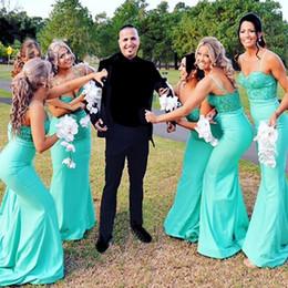 Wholesale Ho Wedding Dresses - On Sale Cheap Mermaid Long Bridesmaid Dress Women Wedding Maxi Gowns Cheap Bridesmaid Long Gown Vestidos Da Dama De Ho 2017
