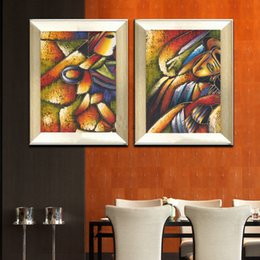 Wholesale Picasso Art Pictures - abstract painting masterpiece canvas prints posters and pictures home decor modern art pictures Picasso Ladies golden 2 panels