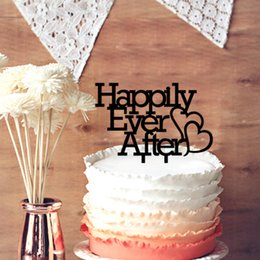 Wholesale Ever After - Wedding Cake Topper, Happily Ever After Wedding Cake Topper, Anniversary Cupcake Stand Cake Topper for Wedding Decor