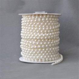 Wholesale Decoration Line - 5 Meters 6mm pearl Beads cotton Line Chain pearls Garland Wedding Party Decoration party Supplies Bride Bouquet accessories