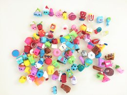 Wholesale Kids Play Toys Wholesalers - Hot Sales!100piece lot Cute Shopping Basket Figures Toys Shopping Season 1 2 3 4 5 Dolls Mixed Baby Kids Pretend Play Shopping Toys Gifts