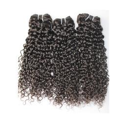 Brins bouclés jerry curl en Ligne-BQ cheveux tissage brésilien maiaysian jerry indien bouclés bouclés 3 pcs faisceaux non transformés jerry curl cheveux humains armure cheveux livraison rapide