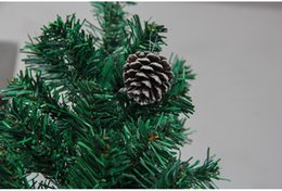 Wholesale Set Paintings Trees - The Christmas tree ornaments accessories The Christmas tree pine cones pendant Dyed the white paint pine cones 6 pcs set