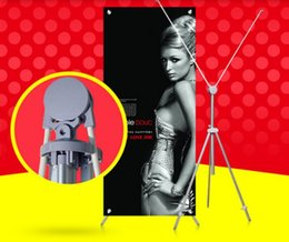 Wholesale Roll Up Banner Display Stand - Aluminium poster holder portable display stand POP indoor X banner sign portrait poster holder display rack stand