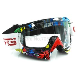 Wholesale Dirt Bike Motocross - Ktm ATV helmet goggle Motorcycle Motocross Dirt Bike vintage biker goggle racing glasses Transparent goggle Transparent glass